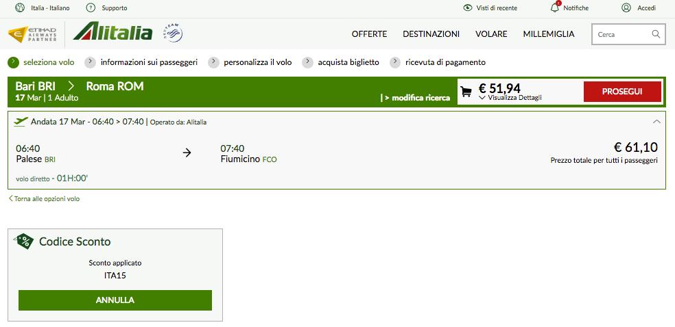 alitalia check in online