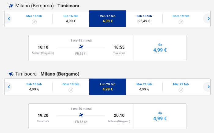 voli ryanair a partire da 5 euro
