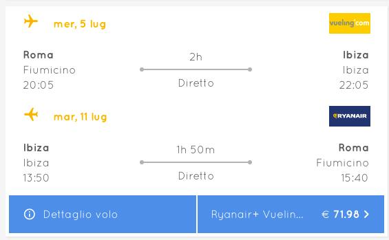 voli low cost ibiza