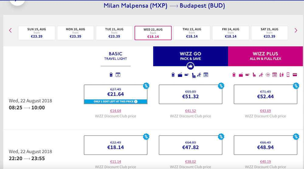 voli low cost wizz air scontati del 30