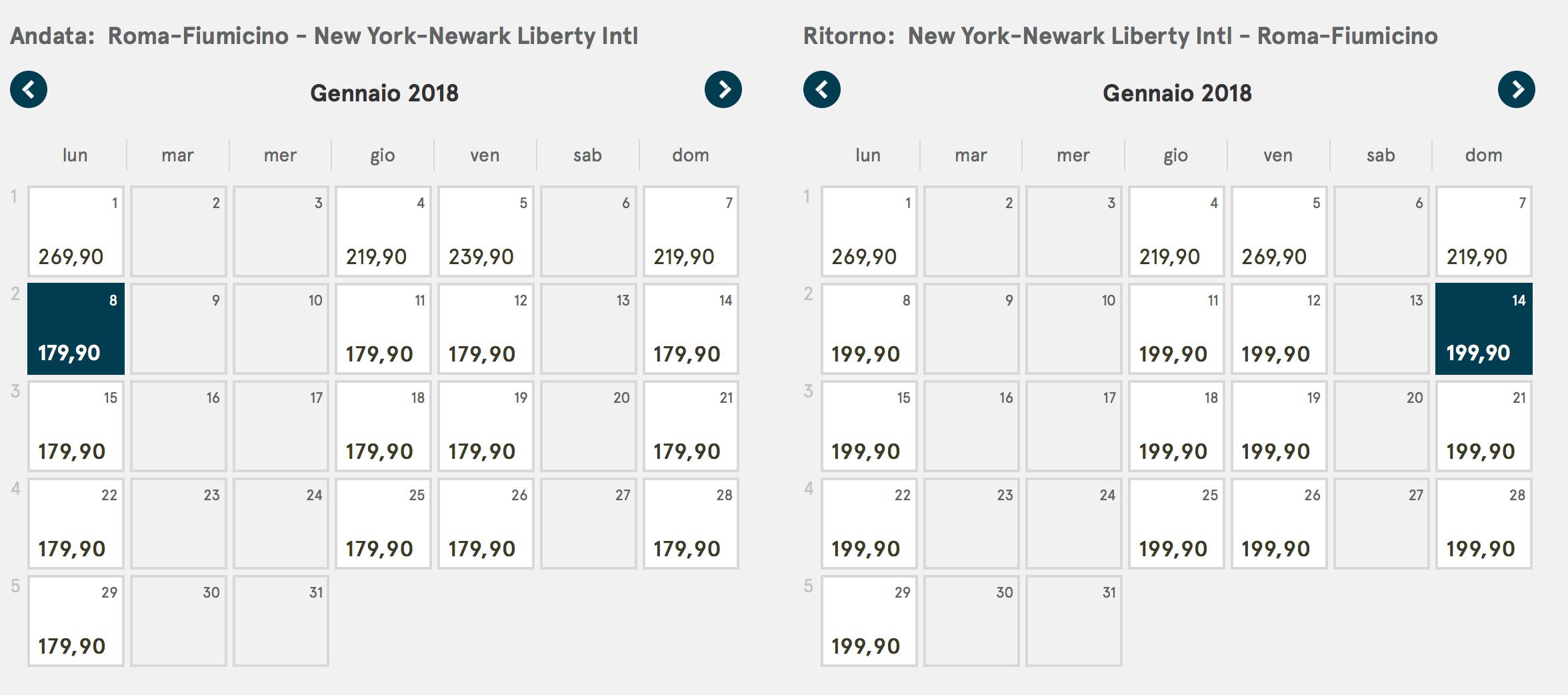 voli low cost per new york a 379 andata e ritorno
