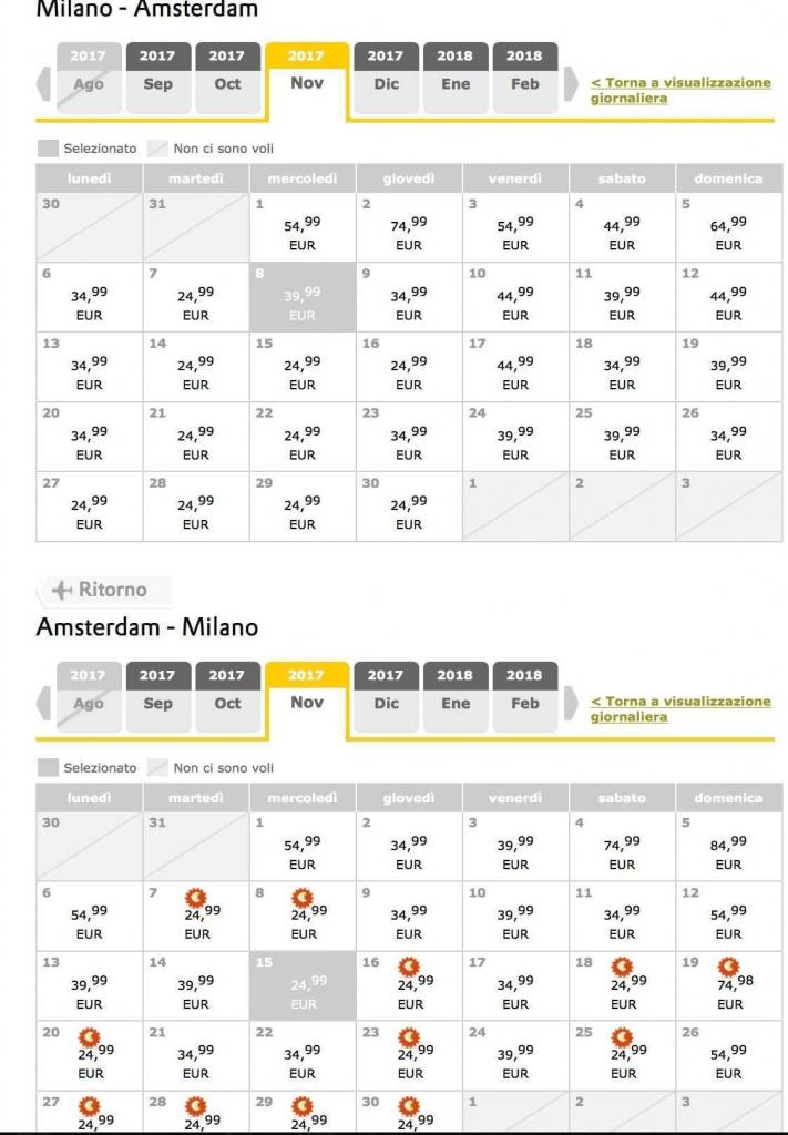 Offerta vueling voli low cost da 24 99 for Voli low cost amsterdam