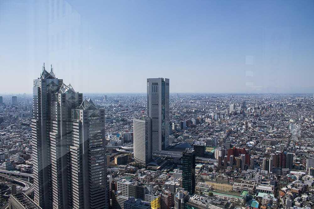 Panorami di Tokyo - Tokyo Metropolitan Government Building