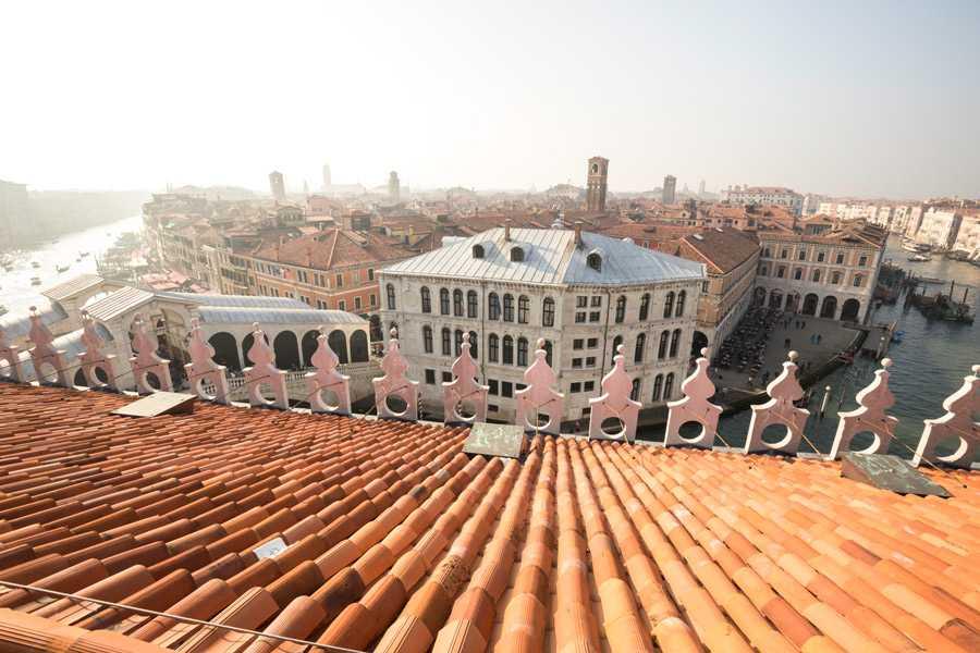 Vista da Fondaco dei Tedeschi di Venezia