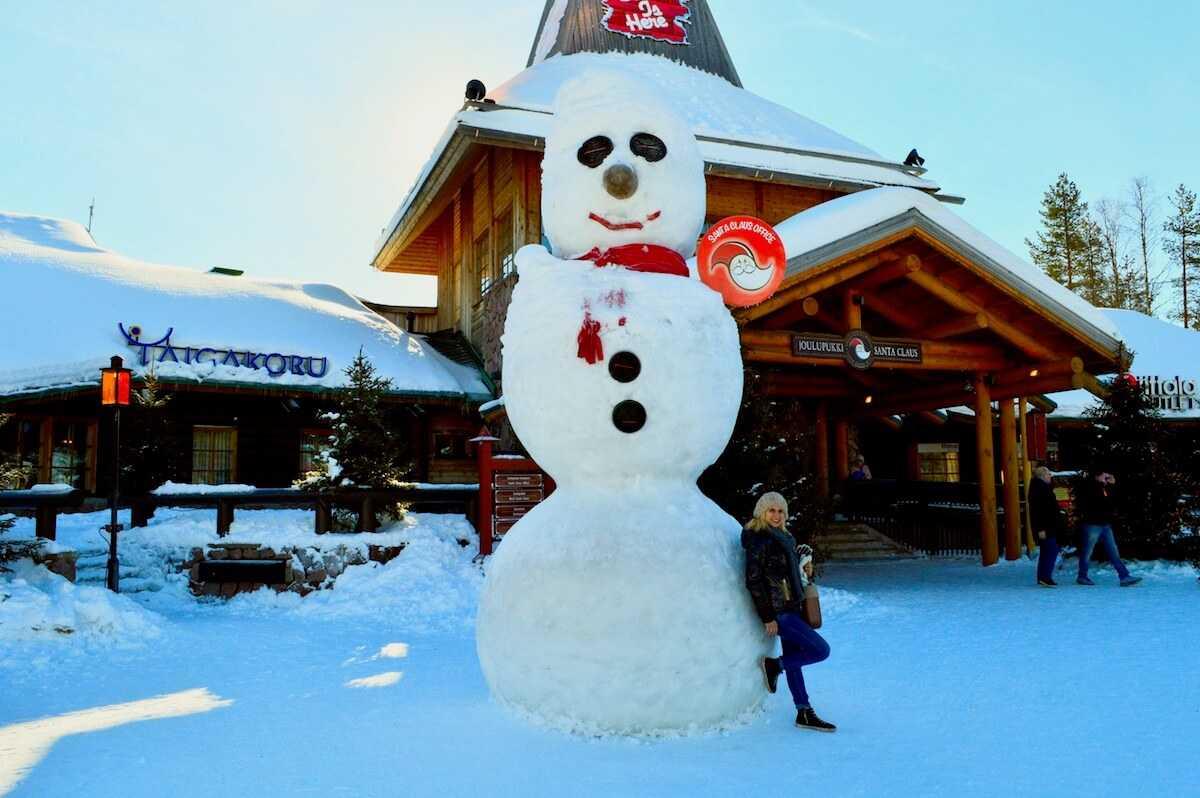 Rovaniemi Lapponia Babbo Natale.Villaggio Di Babbo Natale A Rovaniemi Santa Claus Village