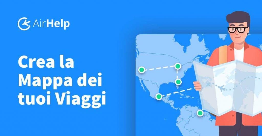 airhelp mappa risarcimento voli ritardo cancellati