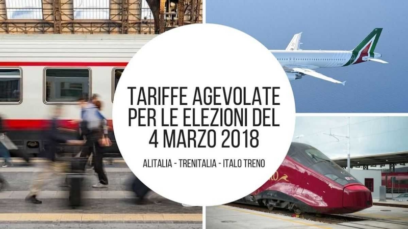 tariffe agevolate treni aerei elezioni 2018