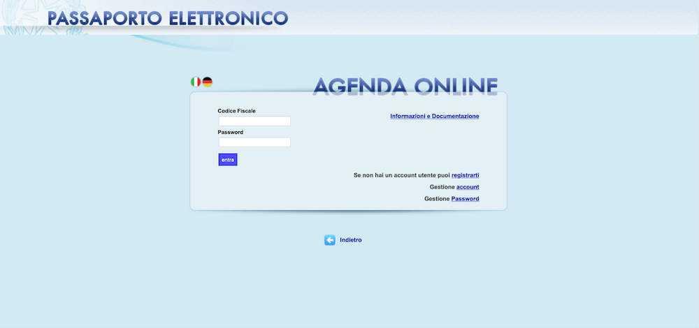 come richiedere passaporto elettronico online