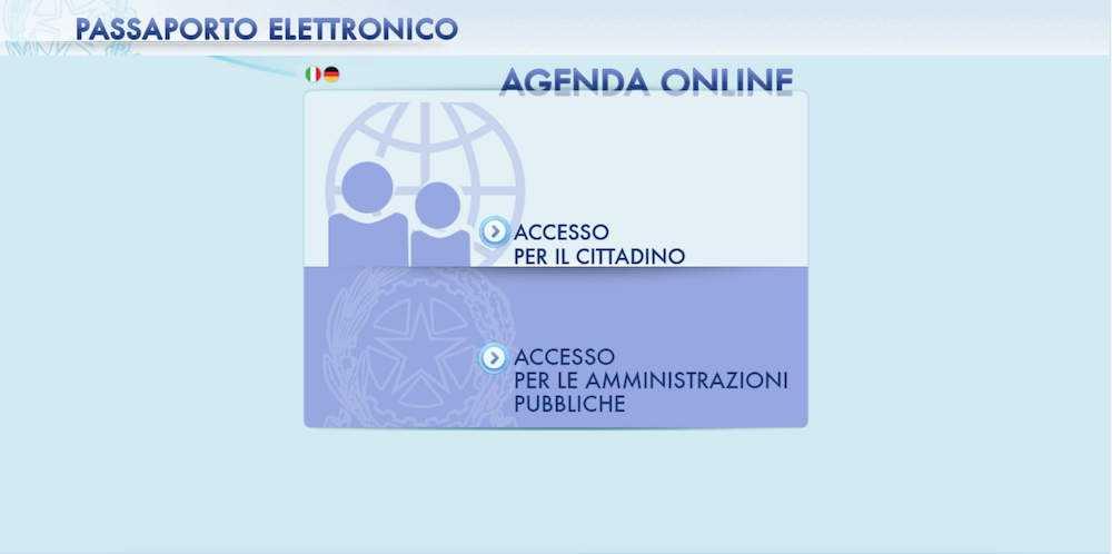 come fare passaporto elettronico online