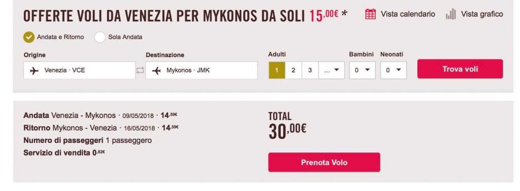 voli low cost volotea per mykonos
