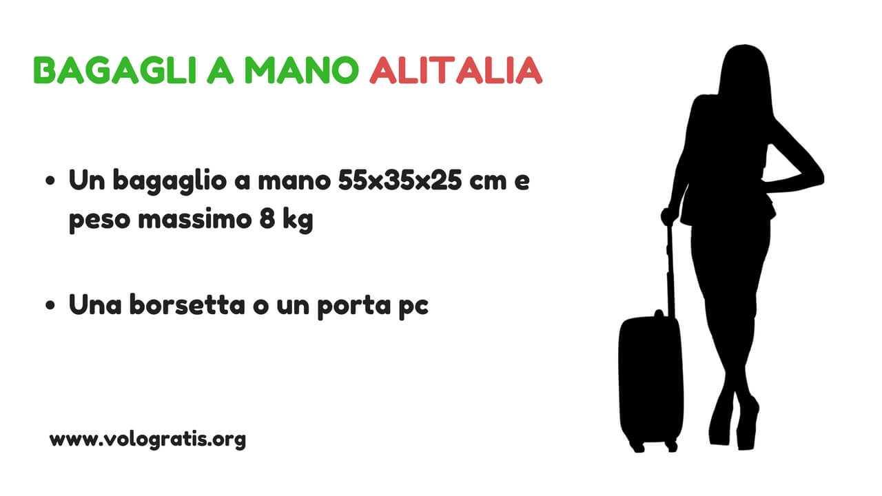 50-70% di sconto buon servizio sentirsi a proprio agio Bagaglio a mano Alitalia: peso e dimensioni | VoloGratis.org