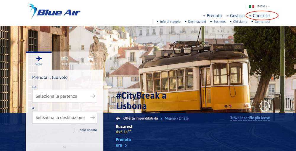 check-in online blue air