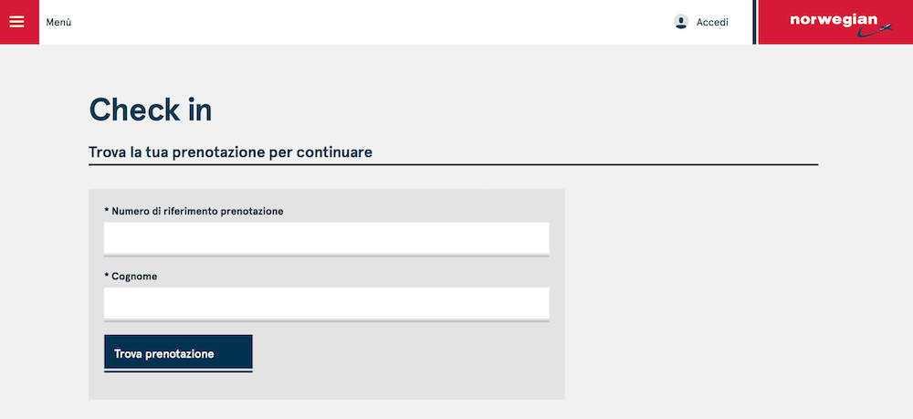 check-in online norwegian