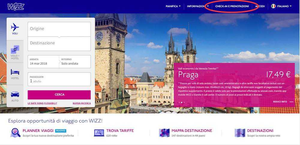 check-in online wizz air