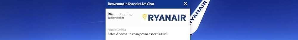 come contattare ryanair chat