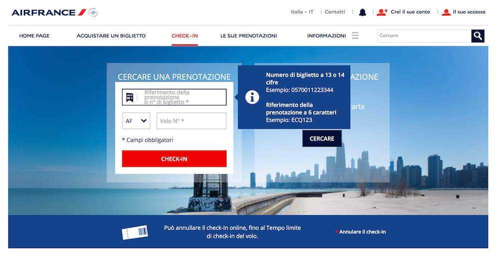 air france check in online