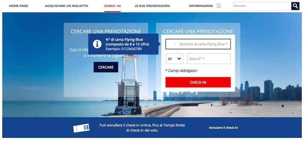check-in online air france
