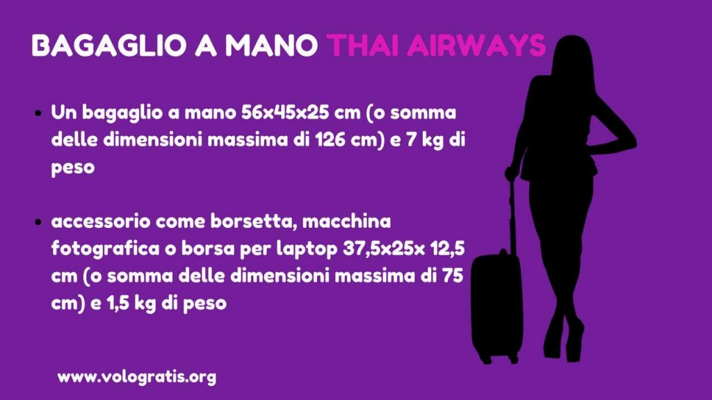 bagaglio a mano thai airways