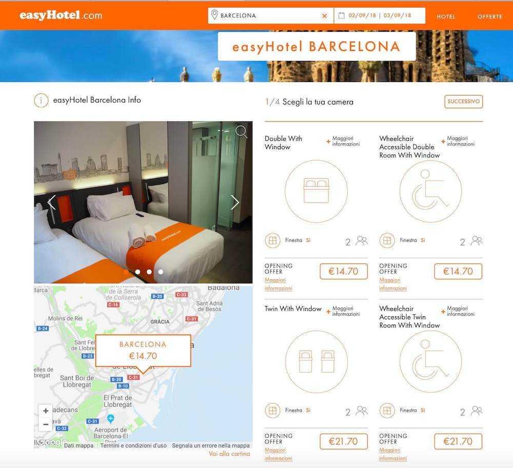 easyhotel barcellona