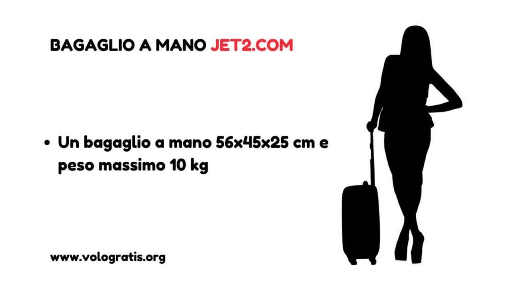 jet2 bagaglio mano