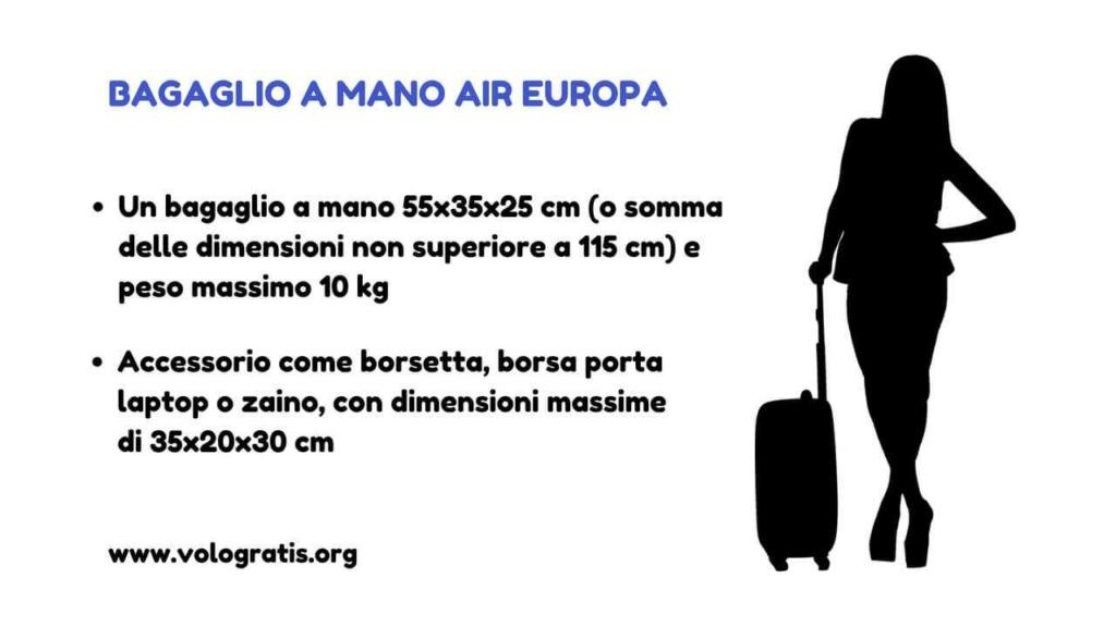 air europa bagaglio mano