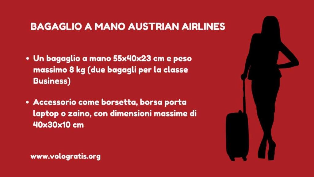 austrian airlines bagaglio a mano 2