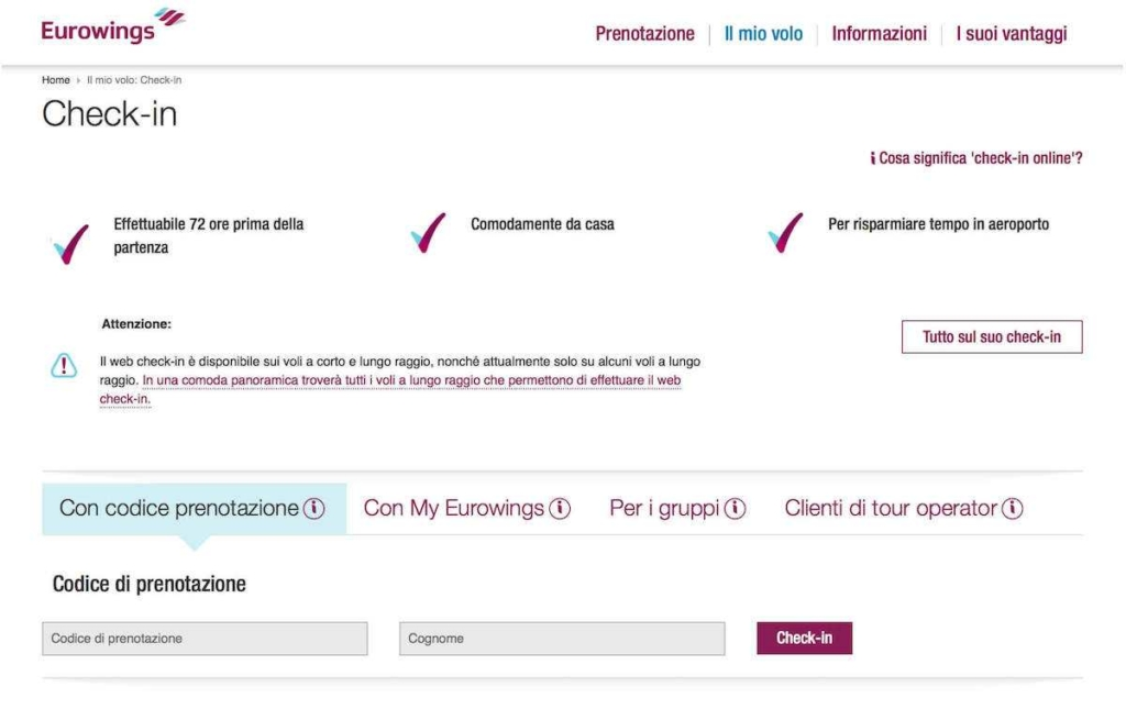 eurowings check-in online