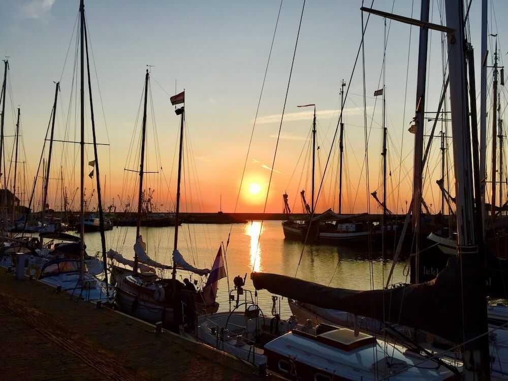 viaggio olanda del nord stavoren tramonto