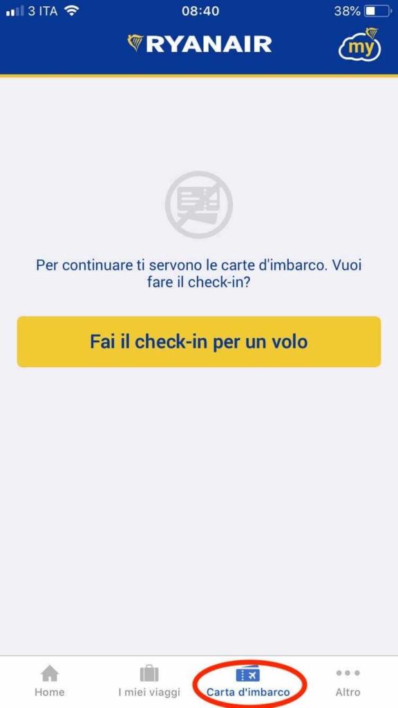 app ryanair check-in online