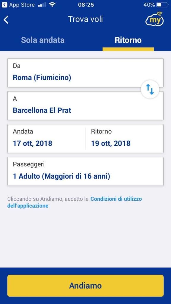 app ryanair prenotare voli (3)