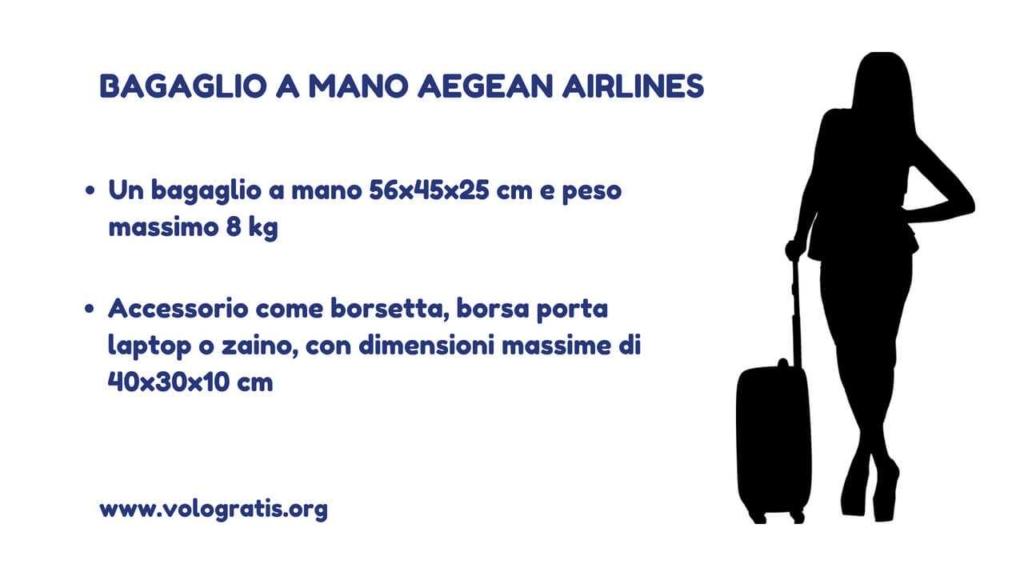 bagaglio mano aegean airlines