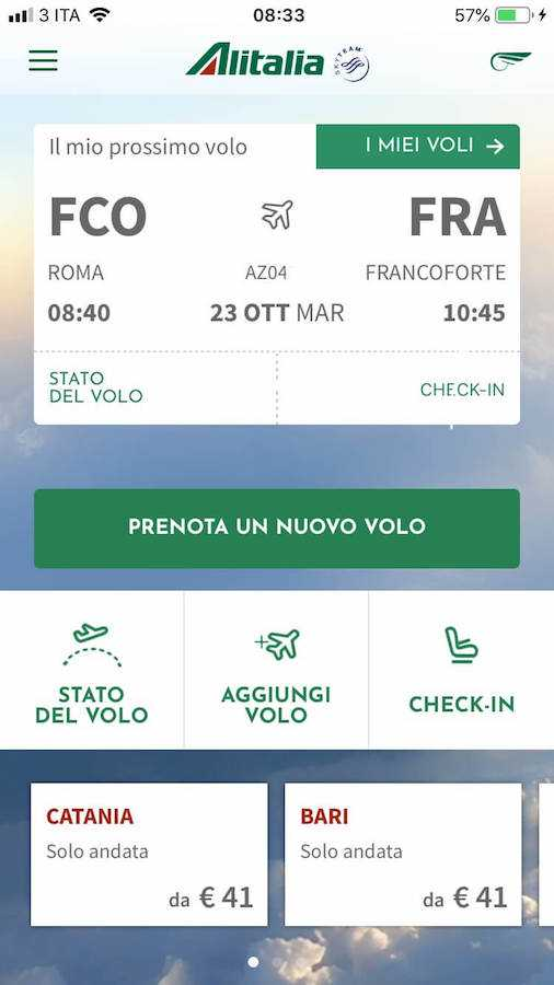 alitalia check-in mobile