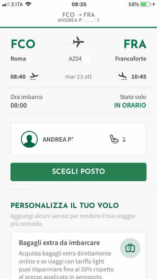 check-in alitalia app