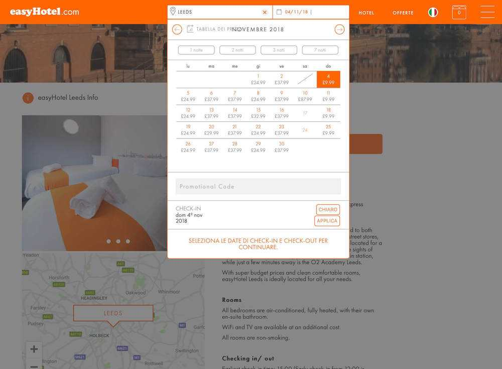 easyhotel hotel low cost