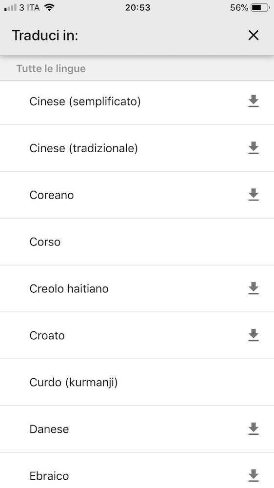 google traduttore offline