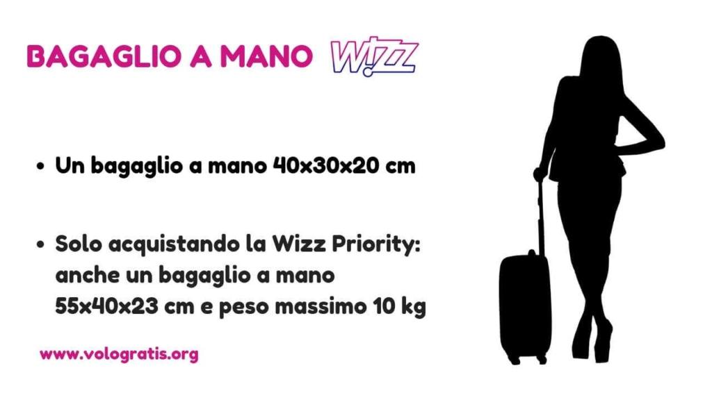 bagaglio mano wizz air