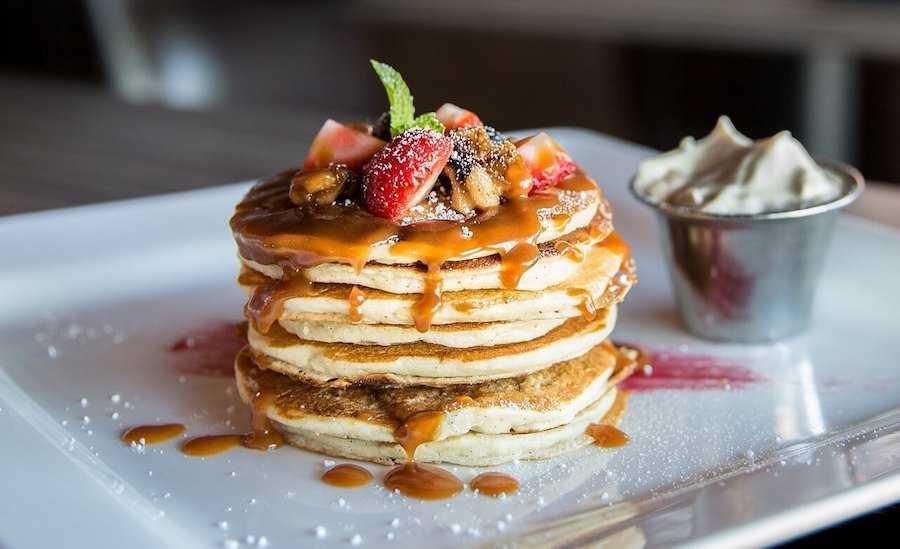 colazione americana pancake