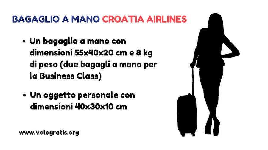 croatia airlines bagaglio a mano