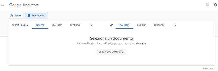 Google traduttore inglese italiano pdf