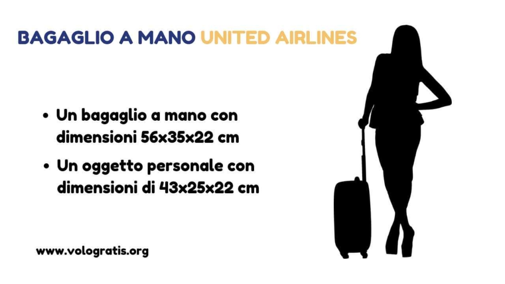 united airlines bagaglio a mano