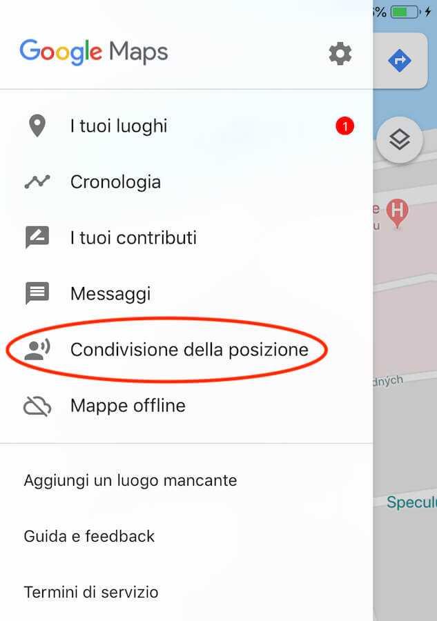 google maps condividere posizione