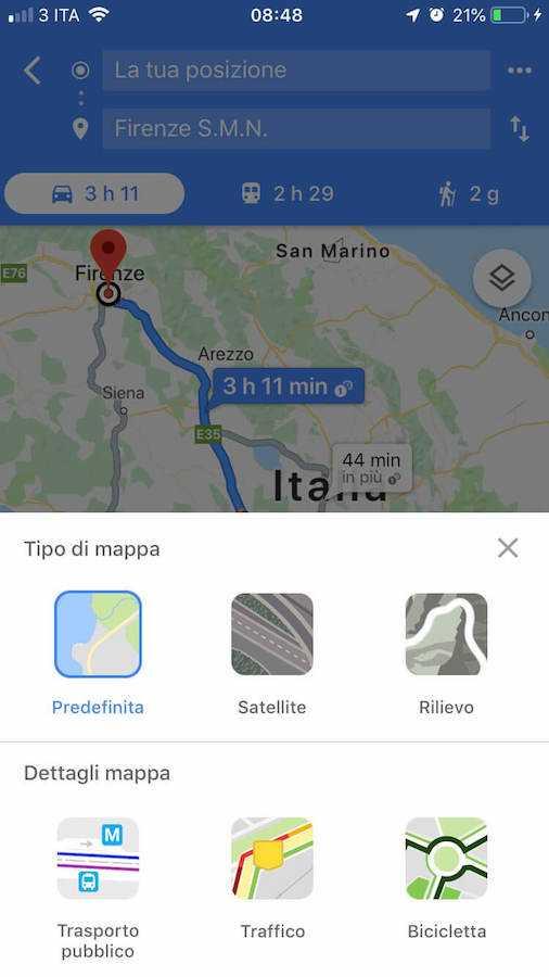 google maps indicazioni stradali 2