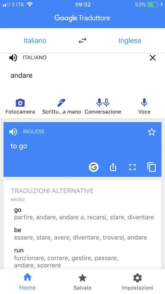 google traduttore sinonimi