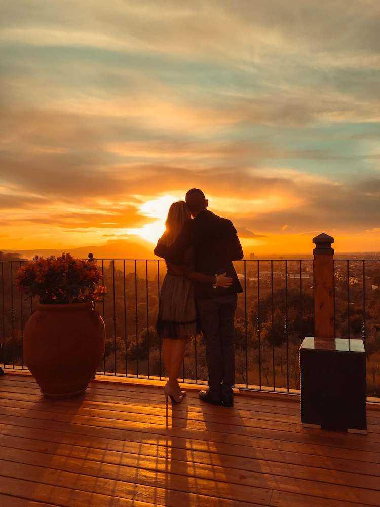 villa tolomei firenze tramonto